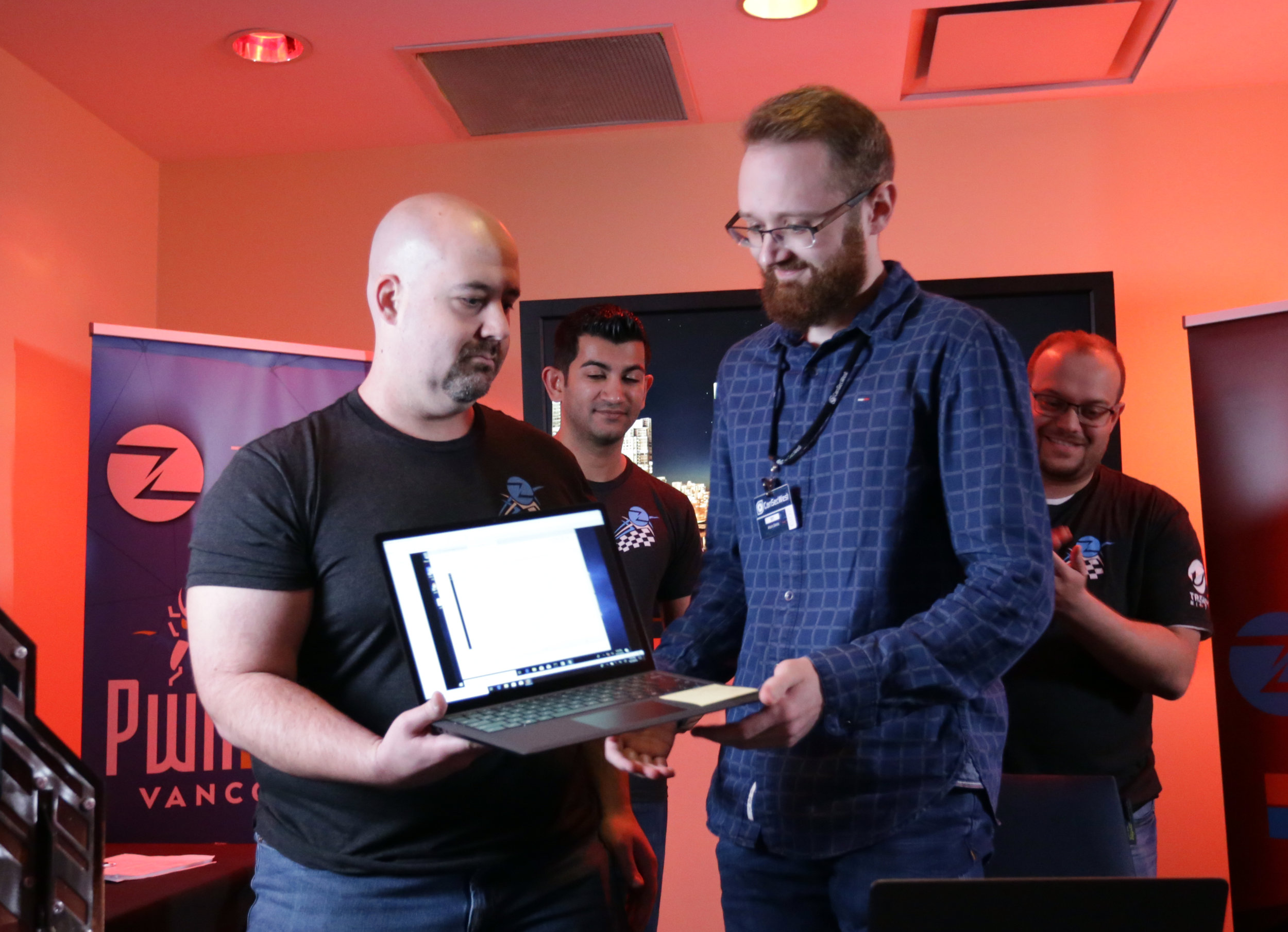 Arthur Gerkis of Exodus Intelligence demonstrates his Microsoft Edge exploit