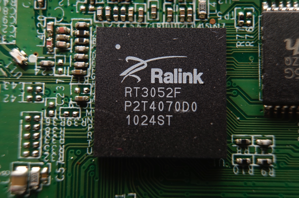 Figure 4 - Detail view of the Ralink RT3052F