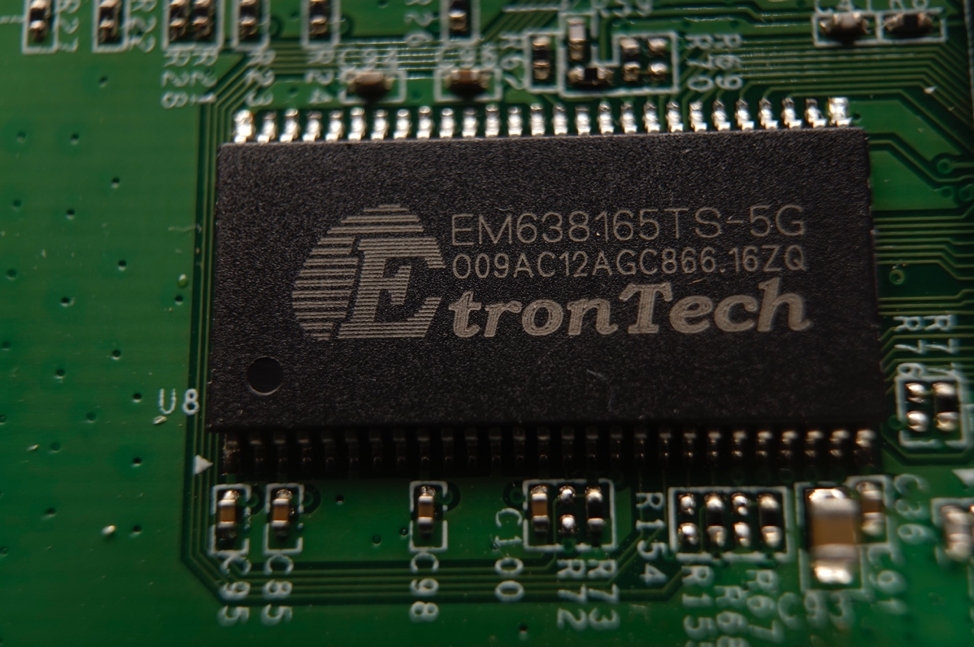 Figure 5 - Detail view of the EtronTech EM638165TS SDRAM