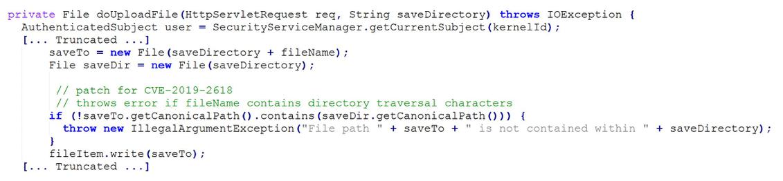 Figure 4 - Exception Error for saveDir
