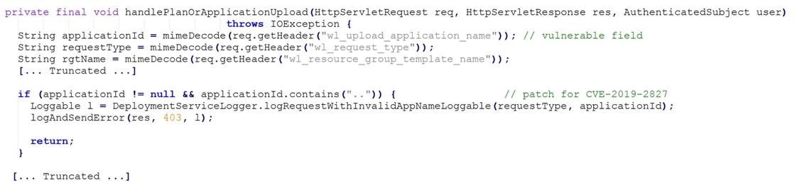 Figure 6 - Code Changes for CVE-2019-2827