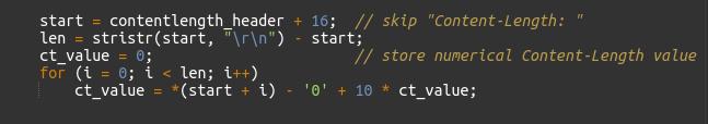 Figure 7 - Loop to convert string to integer