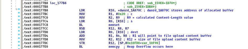 Figure 10 - Heap Buffer Overflow Vulnerability