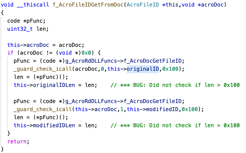 Figure 5 - Pseudocode to retrieve File ID