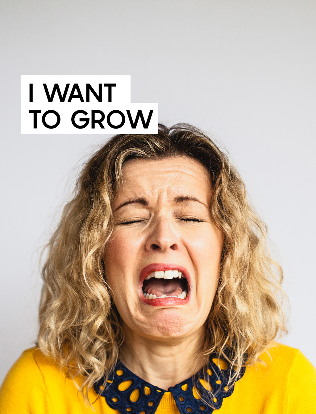 woman crying because of lack of growth in career
