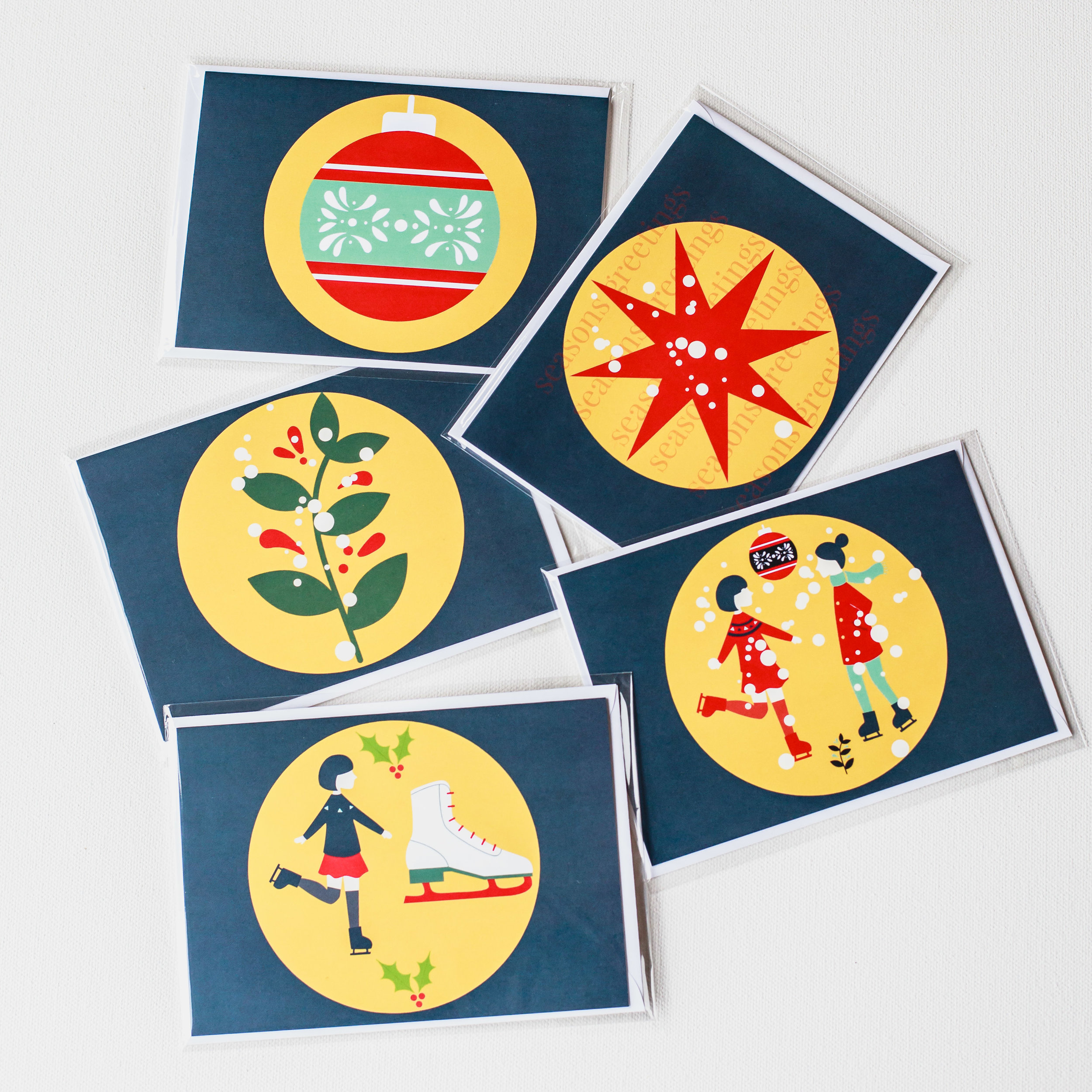 colorful Christmas cards for your family
