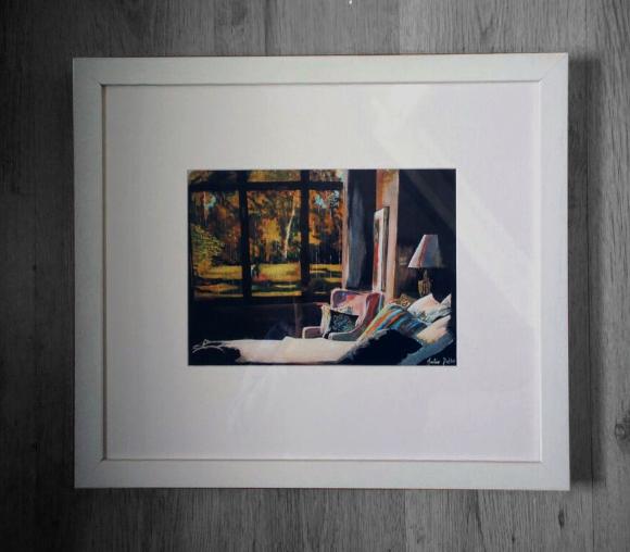 framed work of art