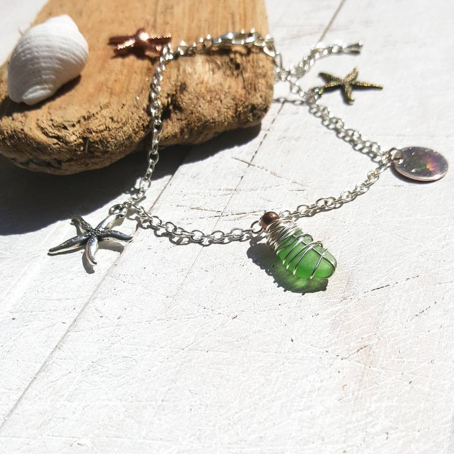 cute bracelet with starfish charms