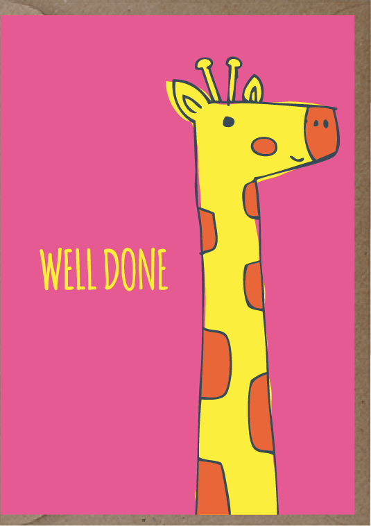 post card that says well done