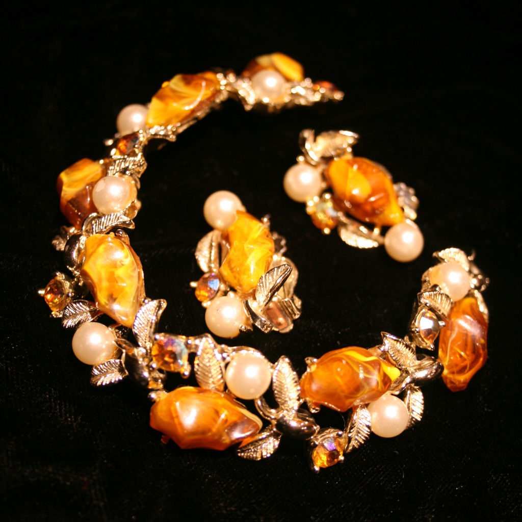 elegant jewelry with pearls and beads