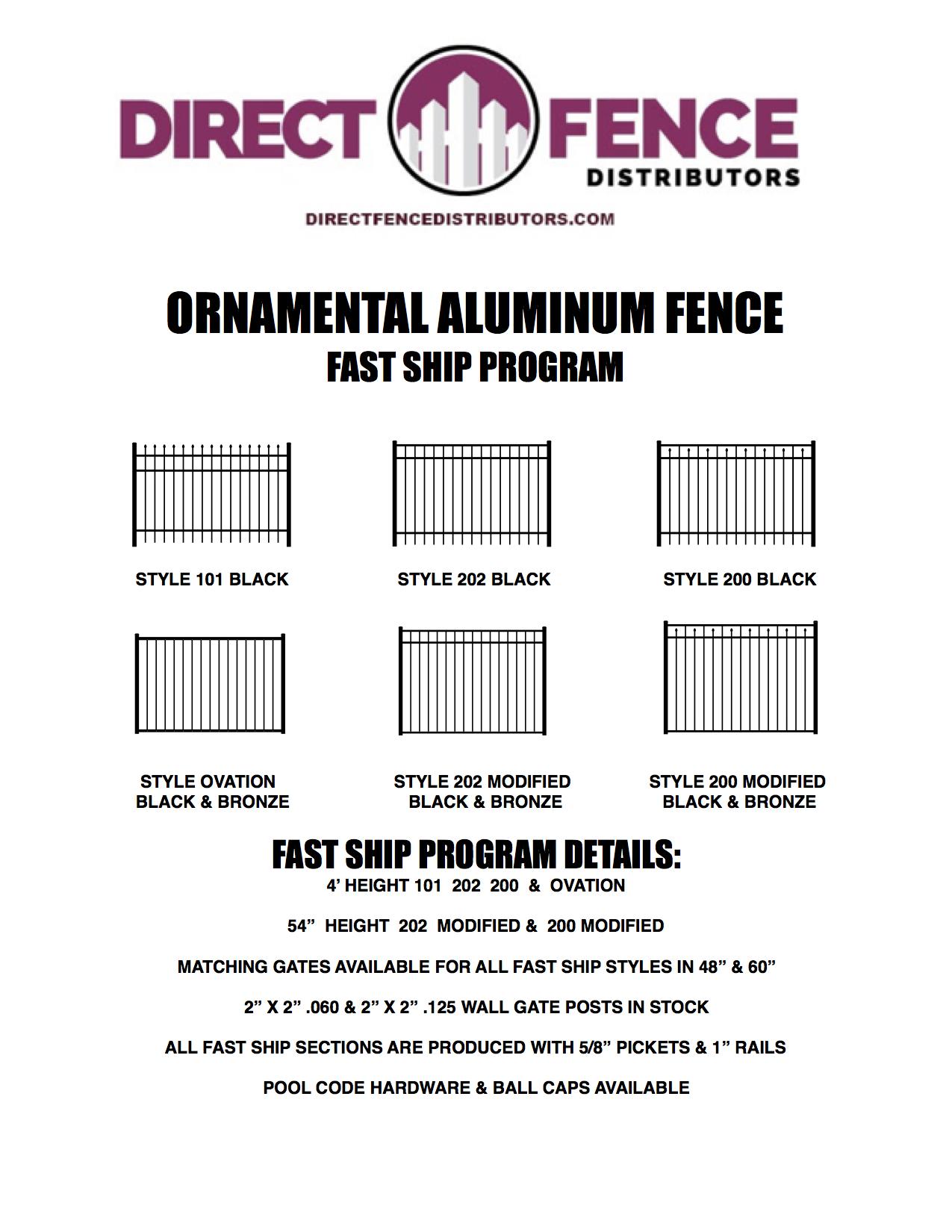 Aluminum Fence Brochure