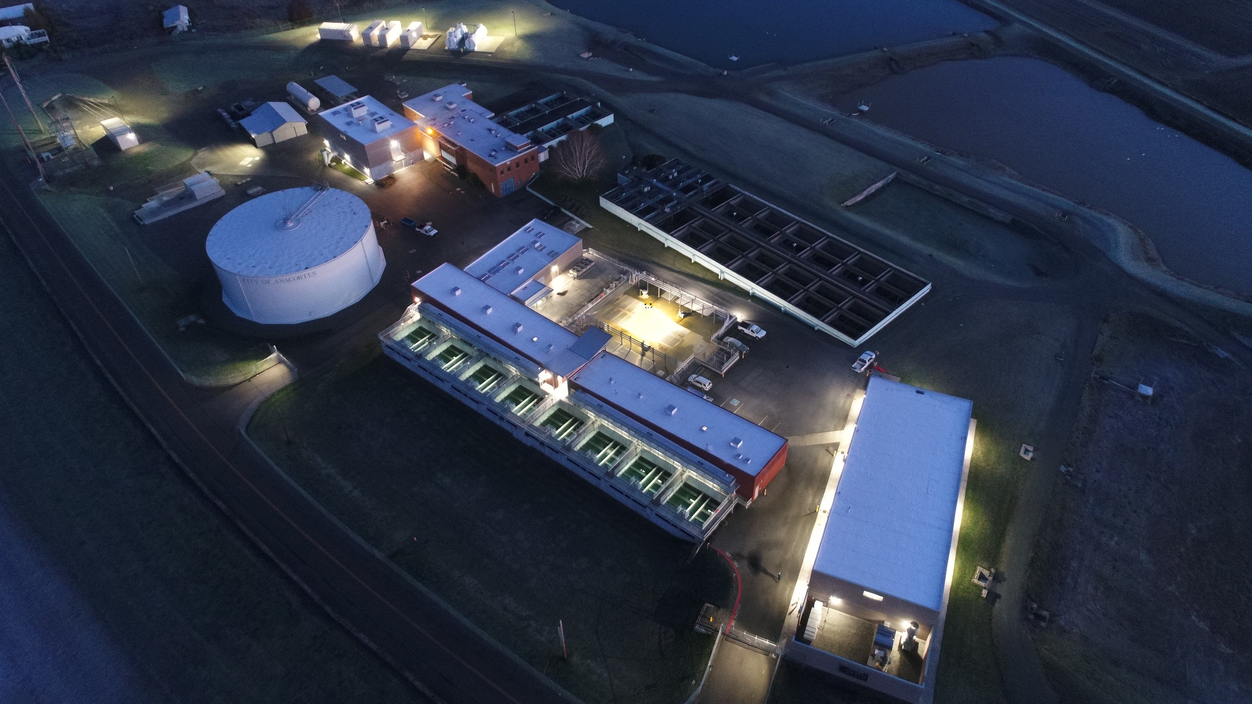 City of Anacortes Water Treatment Plant  exterior LED lighting