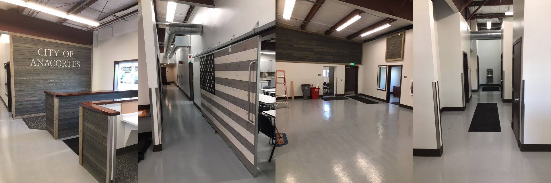 City of Anacortes Operation/Maintenance facility remodel.  LED lighting projected to save $3,000 per year.