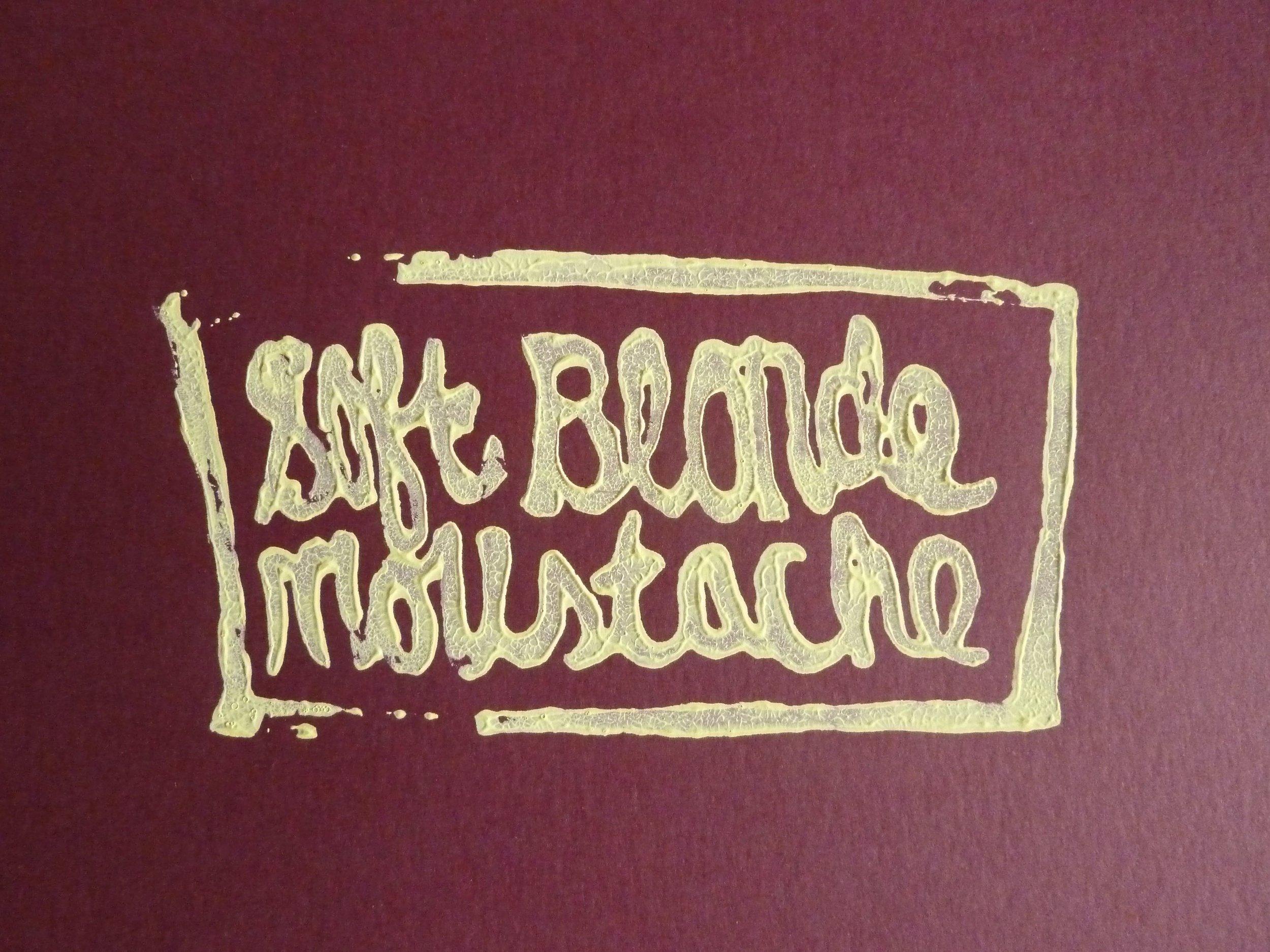 Soft Blonde Moustache book cover, 2008.