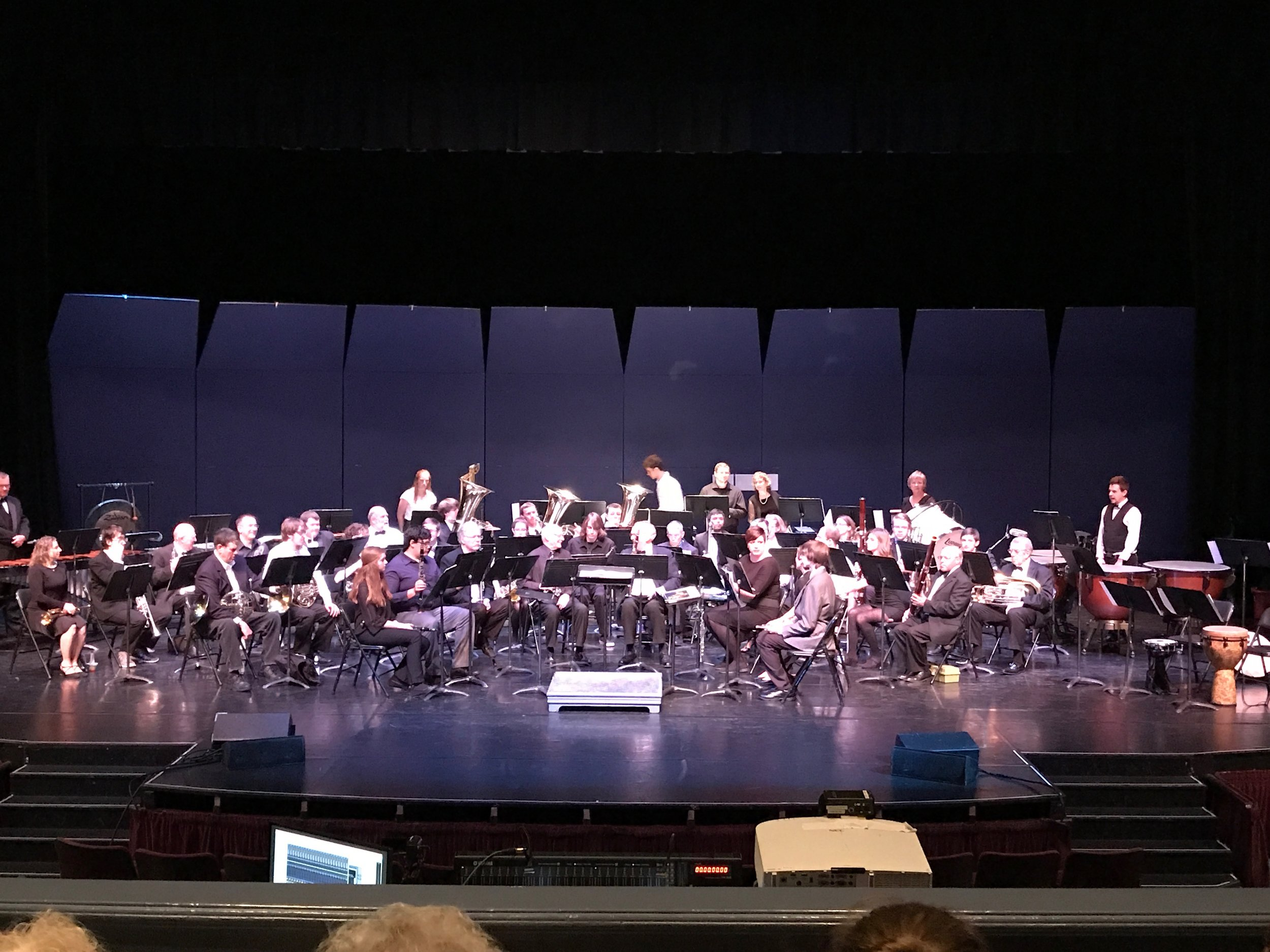 The Klamath Falls Community Band at the Ross Ragland Theater