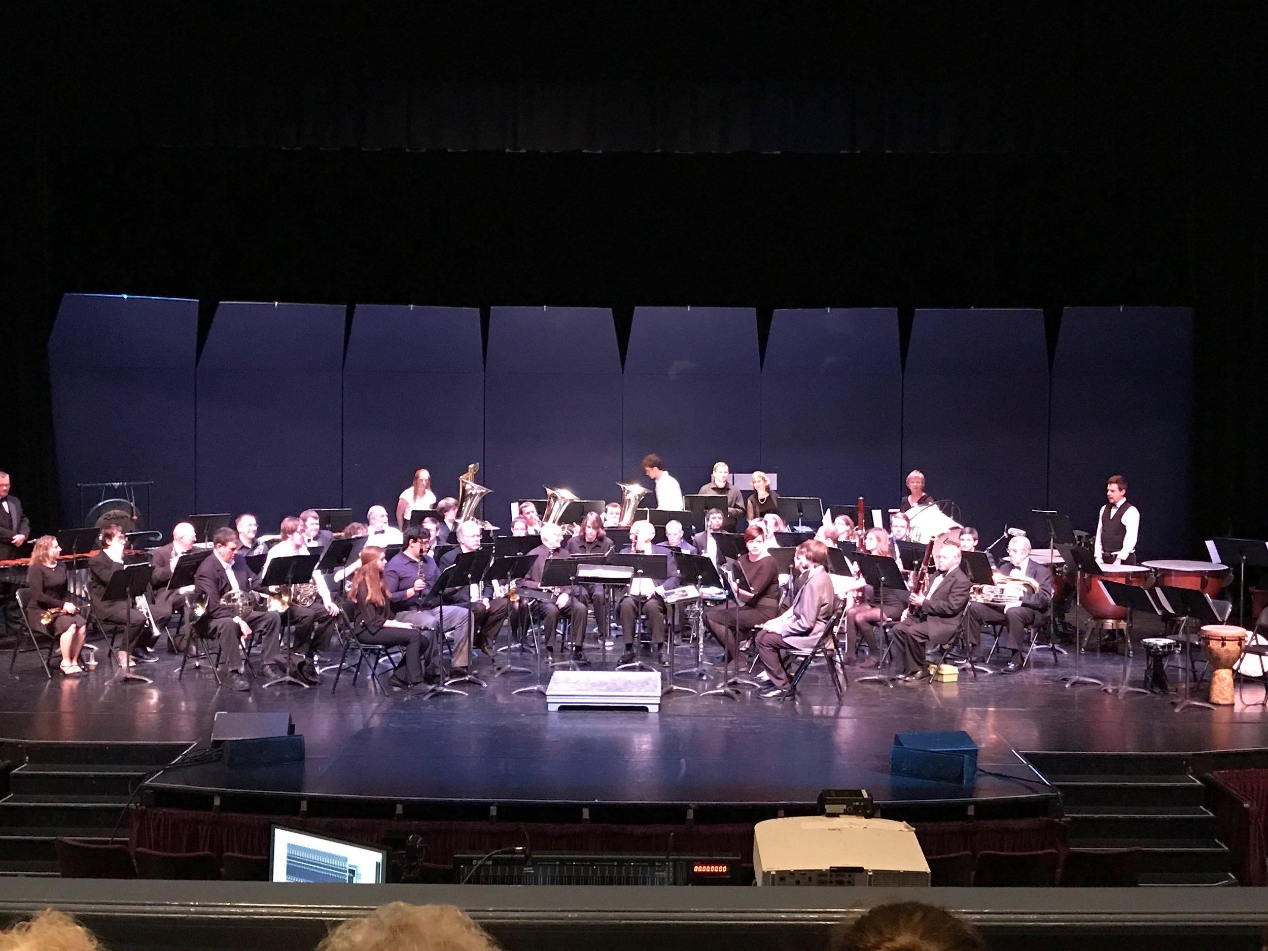 The Klamath Falls Community Band at the Ross Ragland Theater