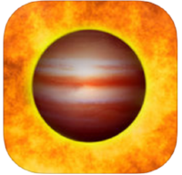Exoplanet   (for iPhone and iPad) - a comprehensive database of known expolanets, this app features physical data on identified exoplanets, along with a detailed map displaying its location in the night sky and where it falls orbit wise in relation to its system's habitable zone. FREE