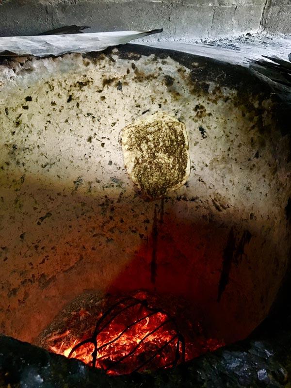Manakeesh in bread oven