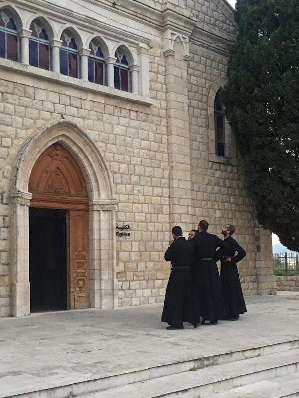 Dancing priests (not presently dancing)