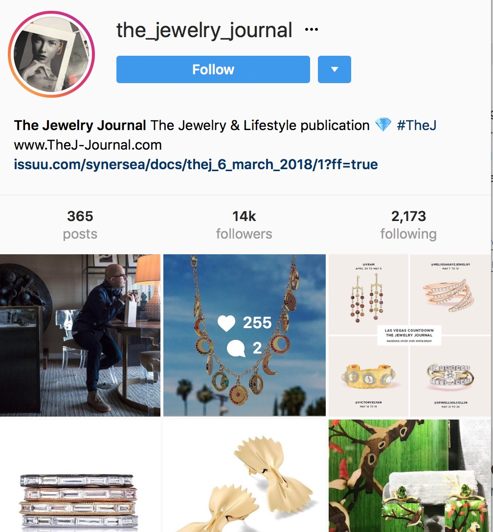 VRAM @the_jewelry_journal instagram takeover