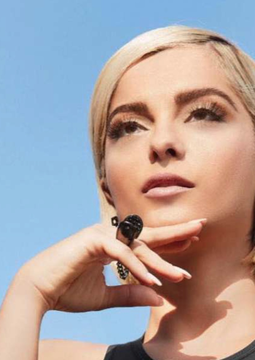 Bebe Rexha in VRAM black diamond Echo ring Health Magazine