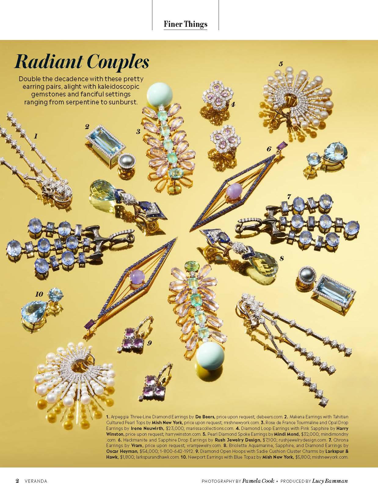 VRAM Jewelry Chrona Sapphire Earrings Veranda Magazine