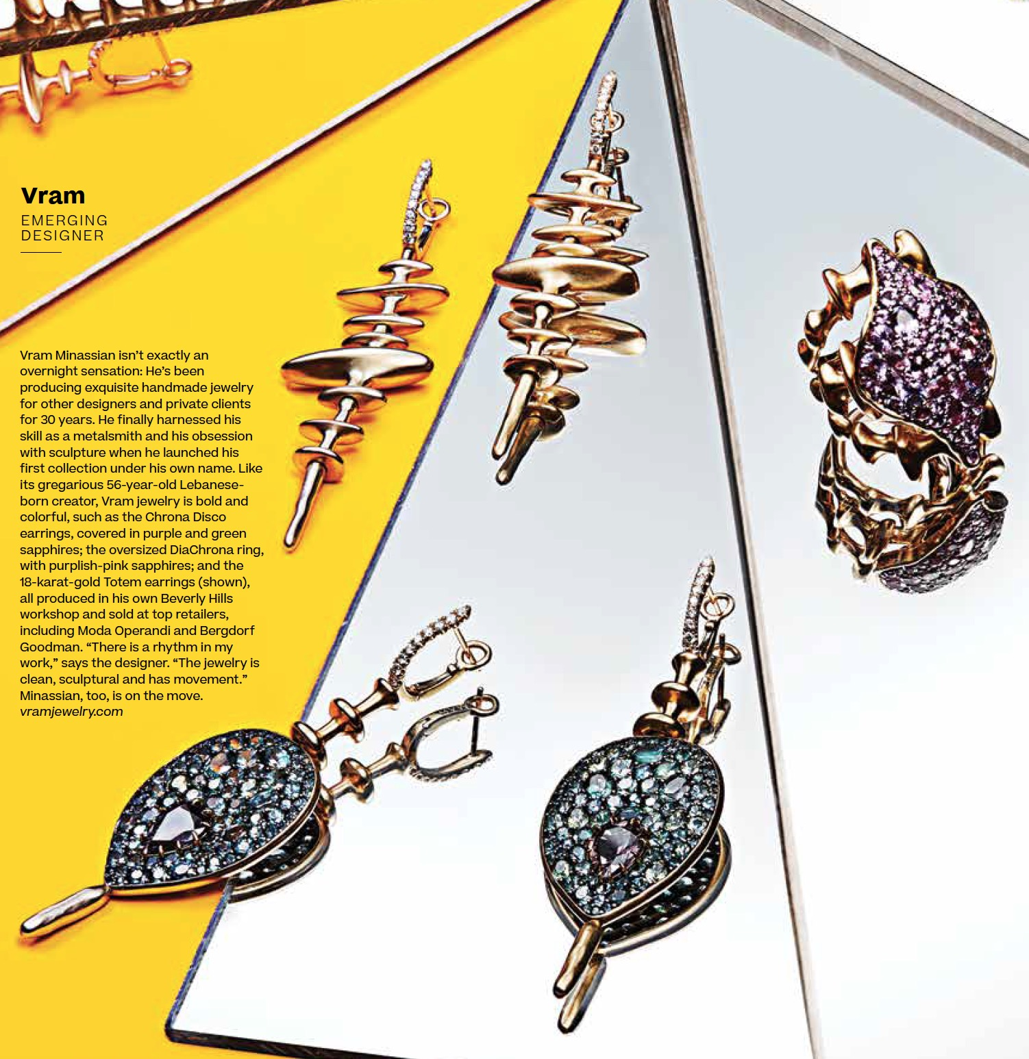 VRAM in Robb Report Chrona Ring Earrings Best of the Best