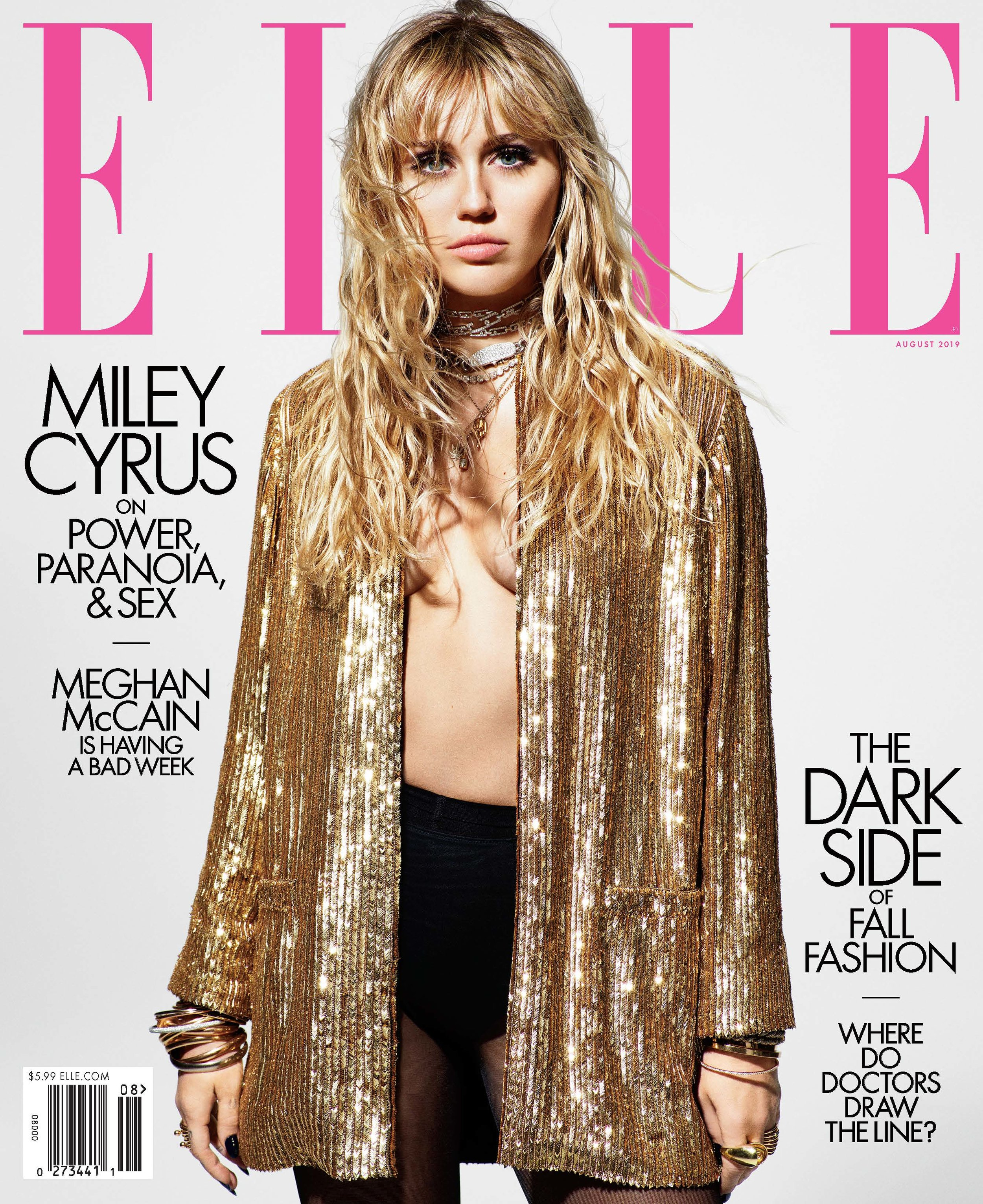 Miley Cyrus wears VRAM Jewelry Elle Magazine Cover