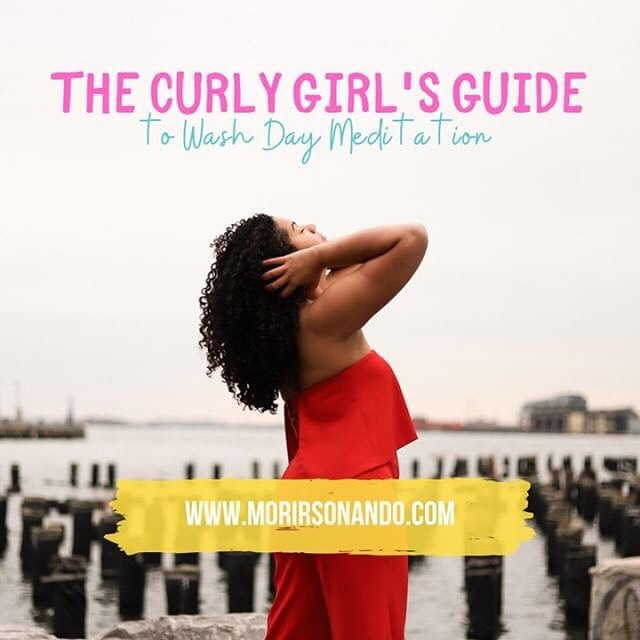 """MorirSonando repeating contributor & Cognitive Reframing Expert @lovedbydestiny has given us some tools to use during that dreadful wash day to tie in the unraveling and calming for our minds with meditation and self awareness all while making your curls fresh for the weekend! Check out """"The Curly Girl's Guide to Wash Day Meditation in Eight Not So Easy Steps"""" on MorirSonañando.com . . . . #morirsoñando #writersofinstagram #selfcare #curlyhair #washday #meditation #tools #lovedbydestiny"""