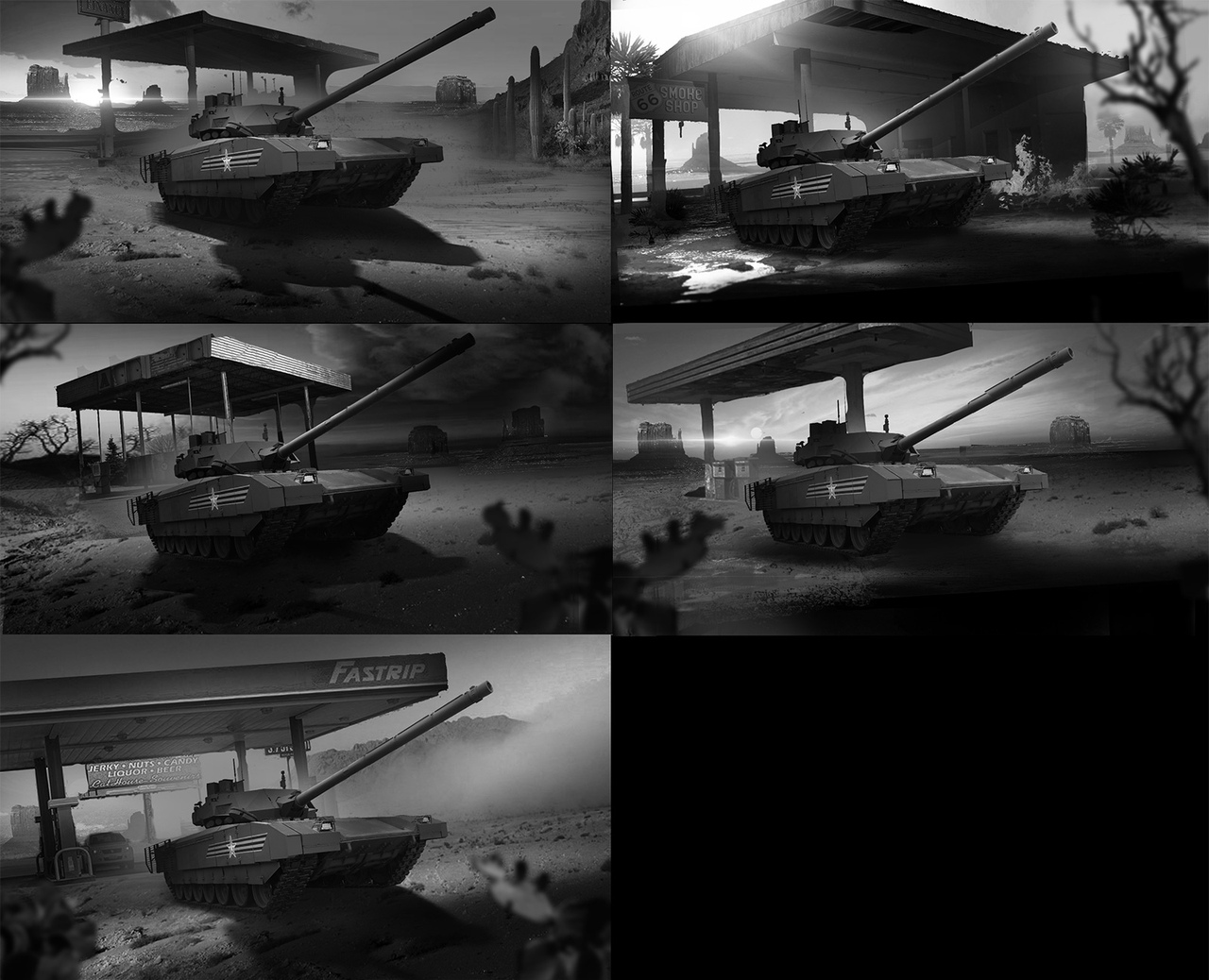 Пример моих быстрых фотобашей-концептов: поиск композиции и сюжета под промоарт