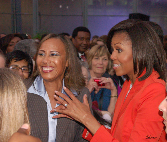 Rhonda F. Harris, Founder and Executive Director, Veterans Resource Program with Former First Lady, Michelle Obama.