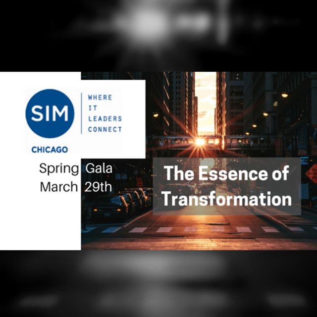 Join CIOs and #IT #leaders of #Chicago on March 29th at the SIM Chicago Spring Gala!  Great time to connect, #network, and gain insight from our keynote speaker Steve Salisbury on transformation #leadership https://buff.ly/2tP7P3E