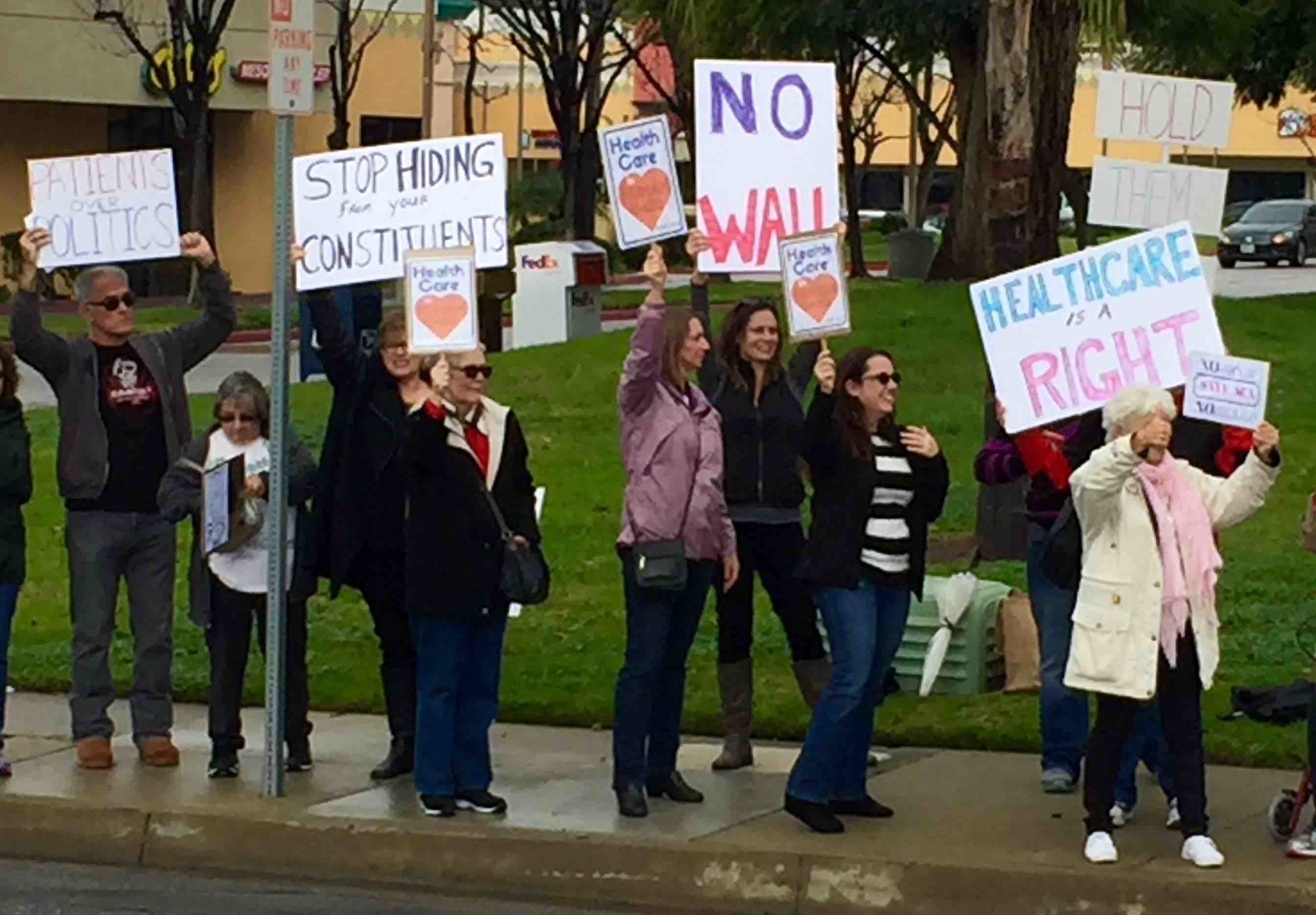 Protesting in Simi Valley