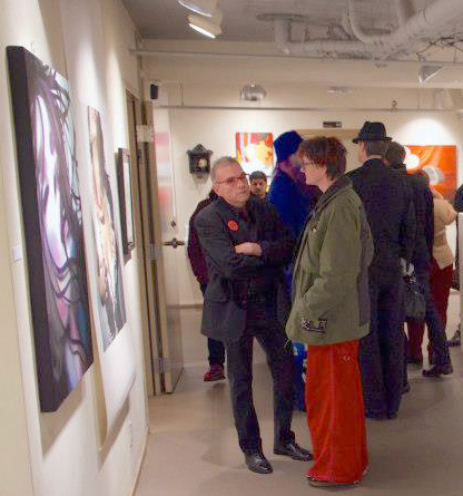 A/NT co-founder Lonny Johnson (left) in the middle gallery