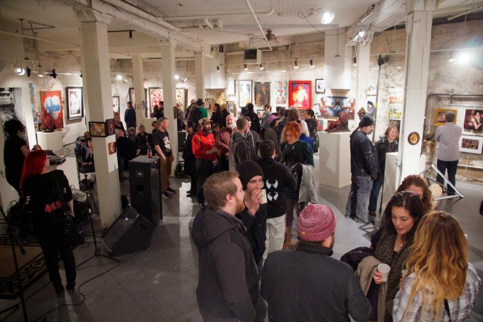 Art/Not Terminal's cavernous lower gallery at 2045 Westlake
