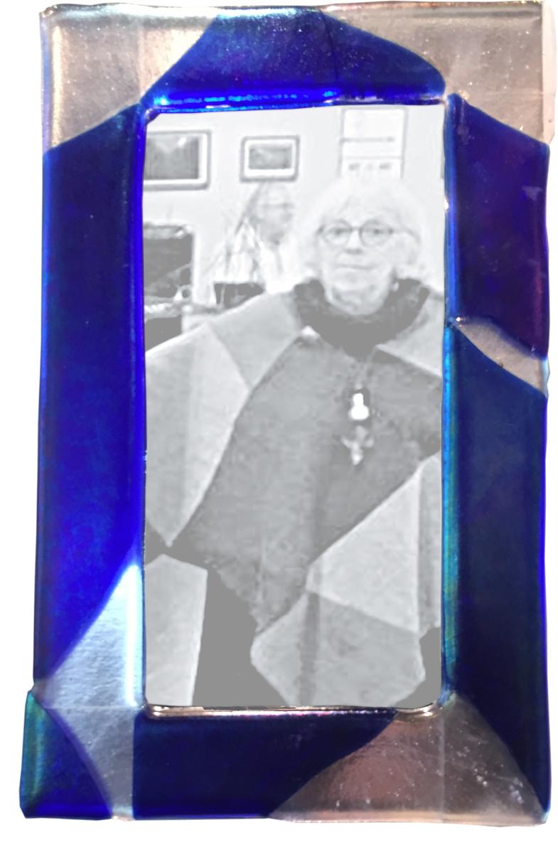 Fused Glass Mirror Frame     Elizabeth Atly