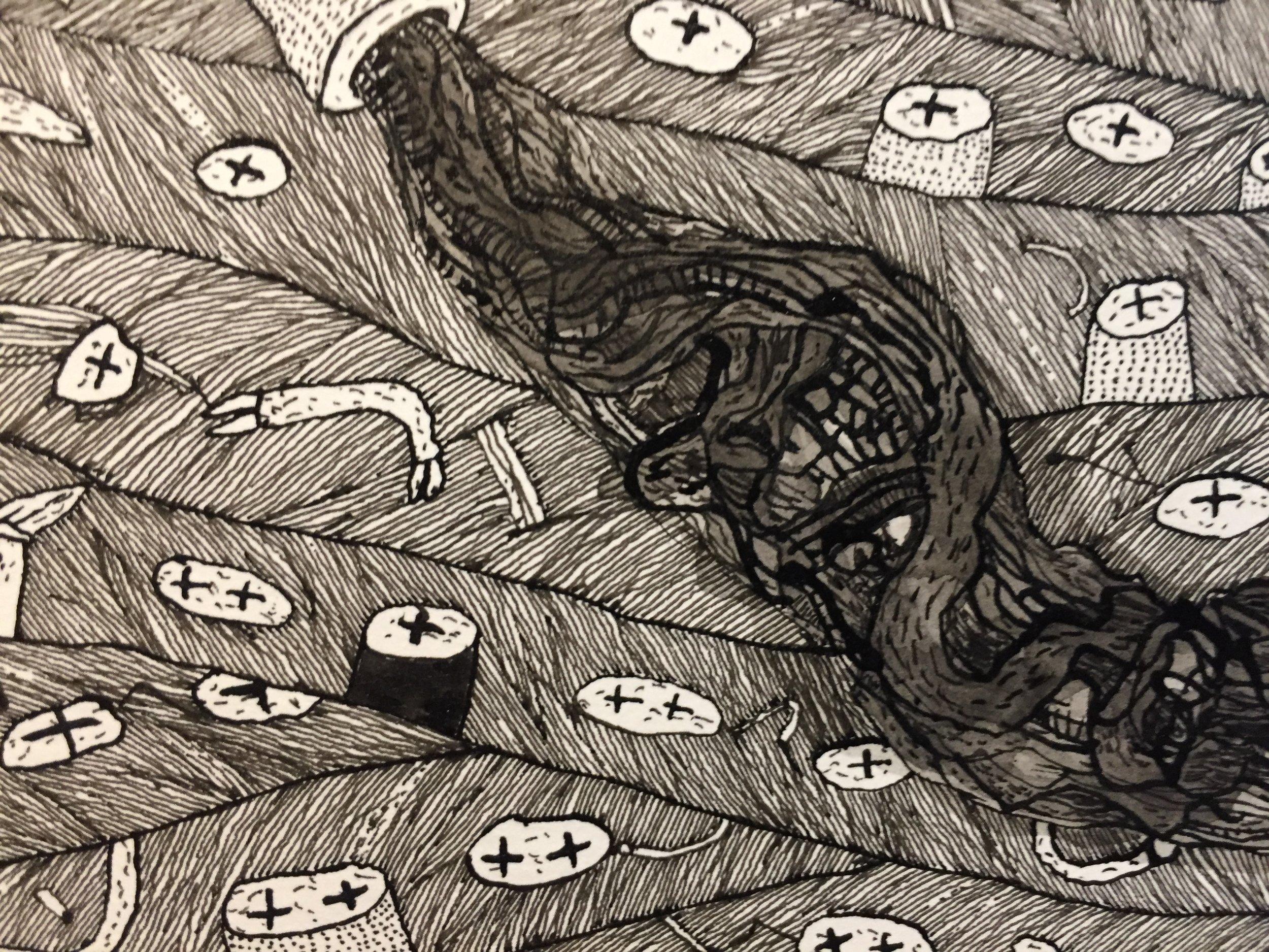 Le Petit Canard Rouge   (detail 1)