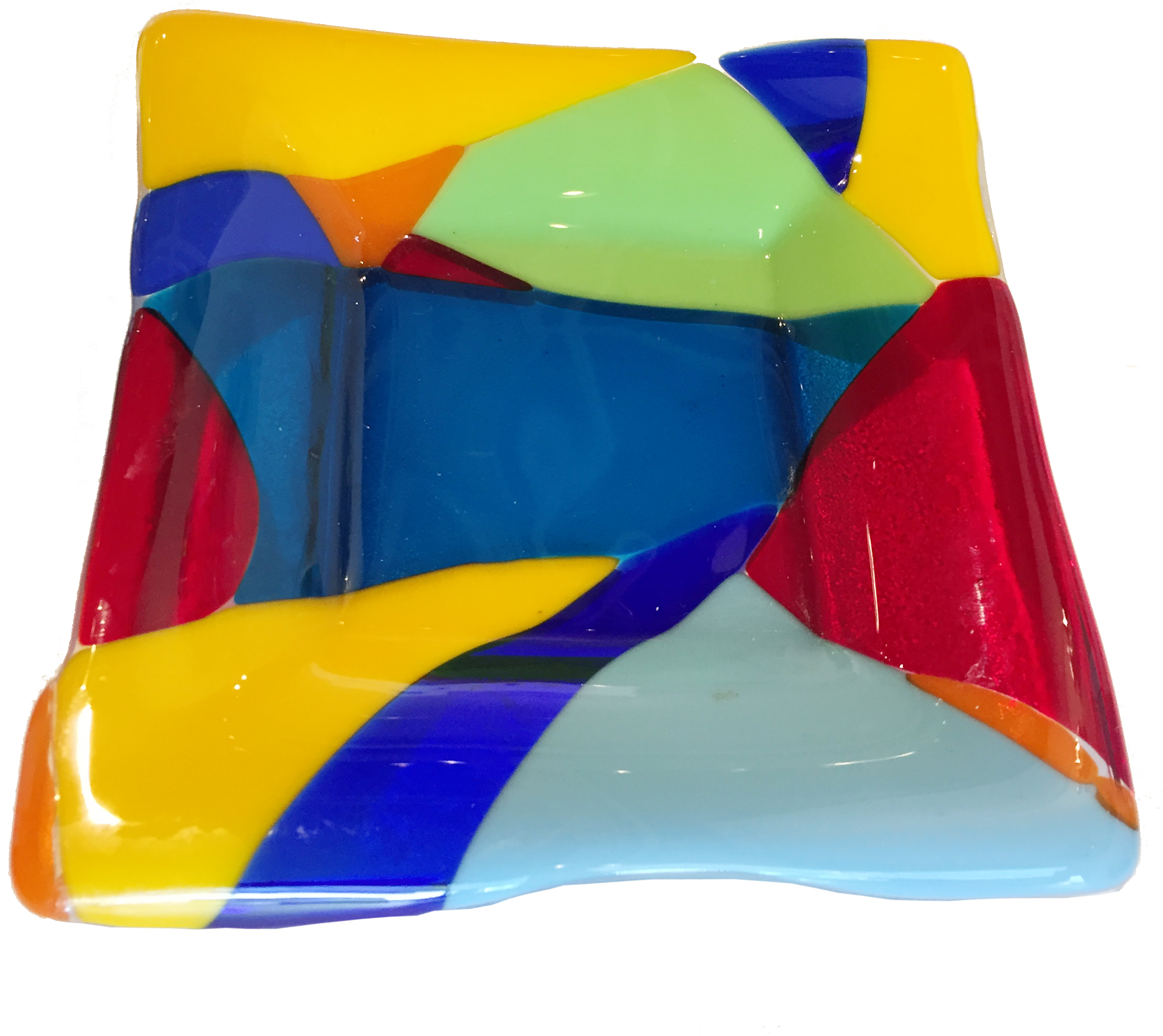 Multi-colored Square Dish   Elizabeth Atly