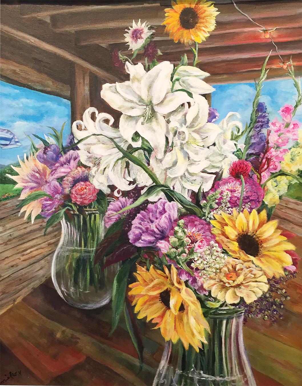 Flower Stand Bouquet   Mieko Hamblin