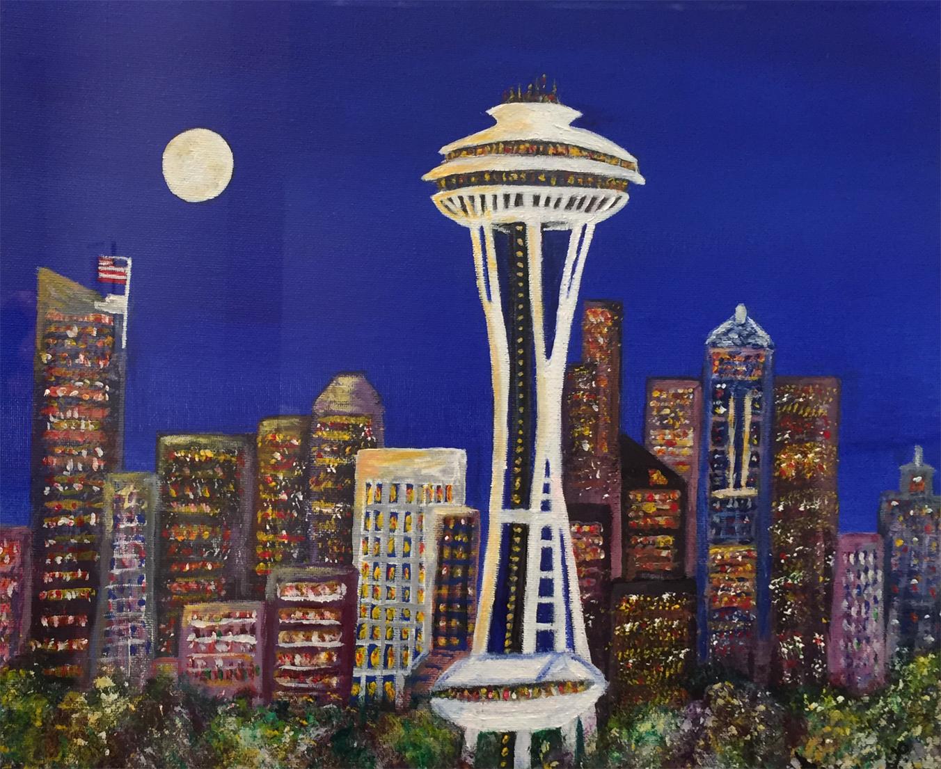 Moon Over Seattle   Midori Liu