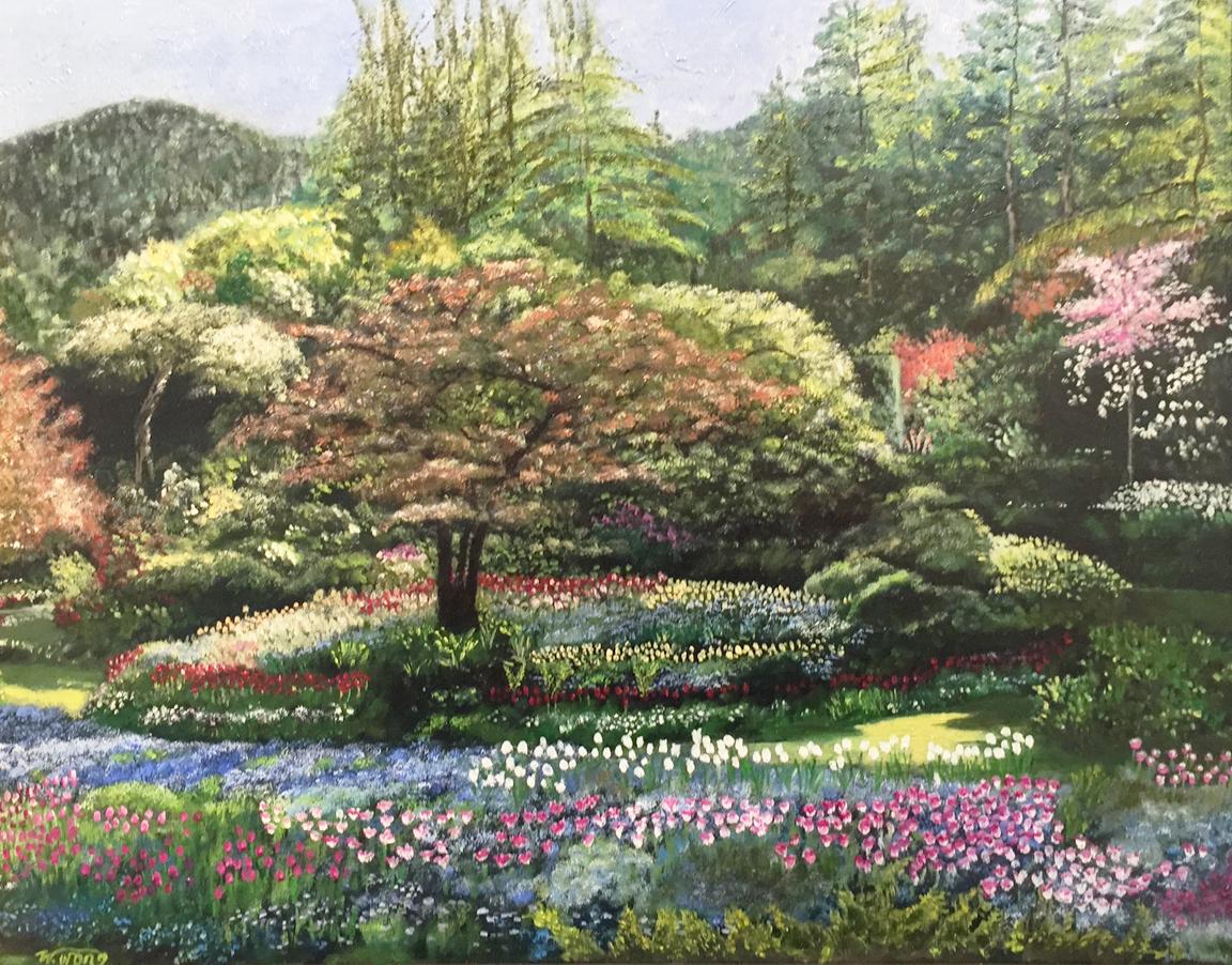Spring at the Sunken Garde  n Wai Wong-Miller