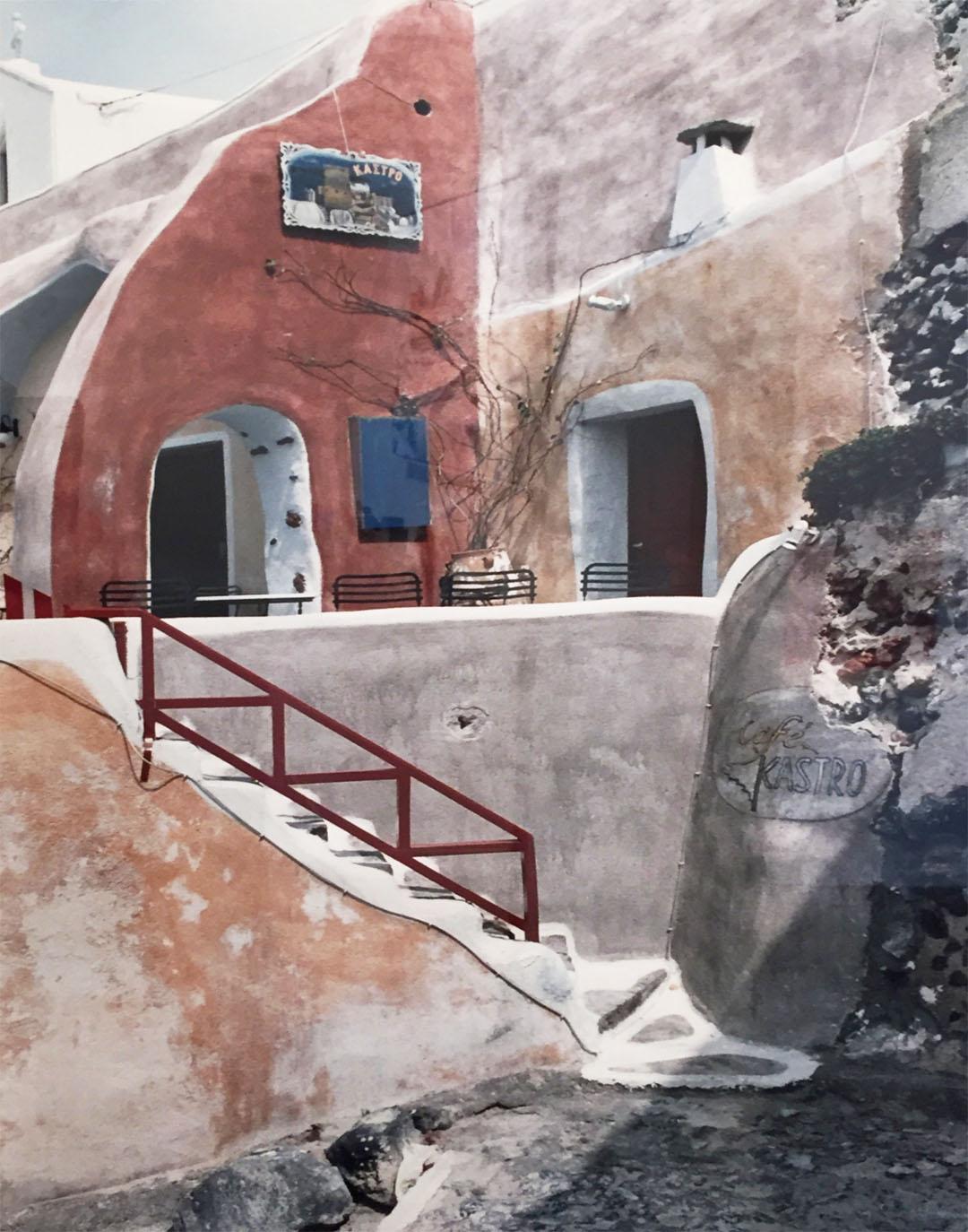 Kastro (Castle) Cafe Oia, Santorini, Greece   Elizabeth Atly