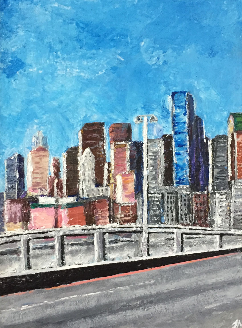 Blue Skyline   Janette Marberry