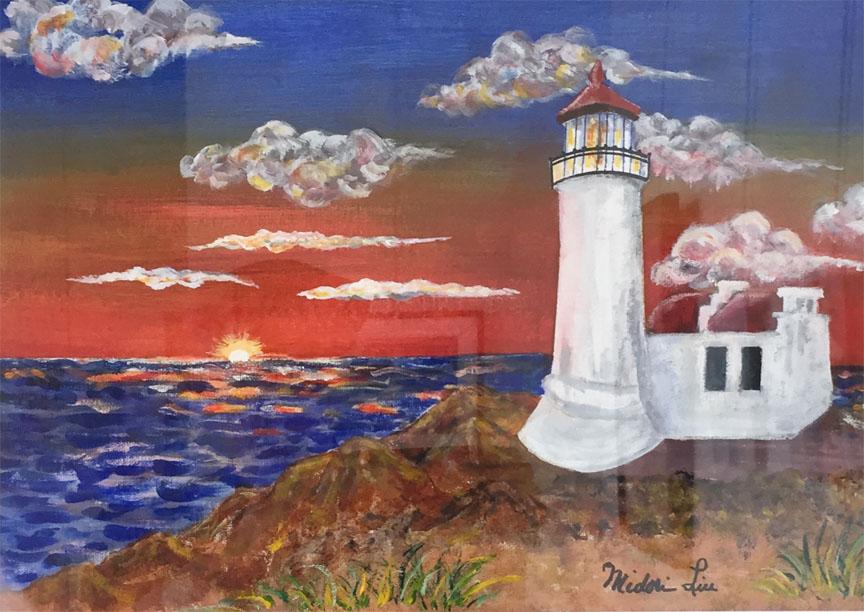 Sunset at North Head Lighthouse   Midori Liu