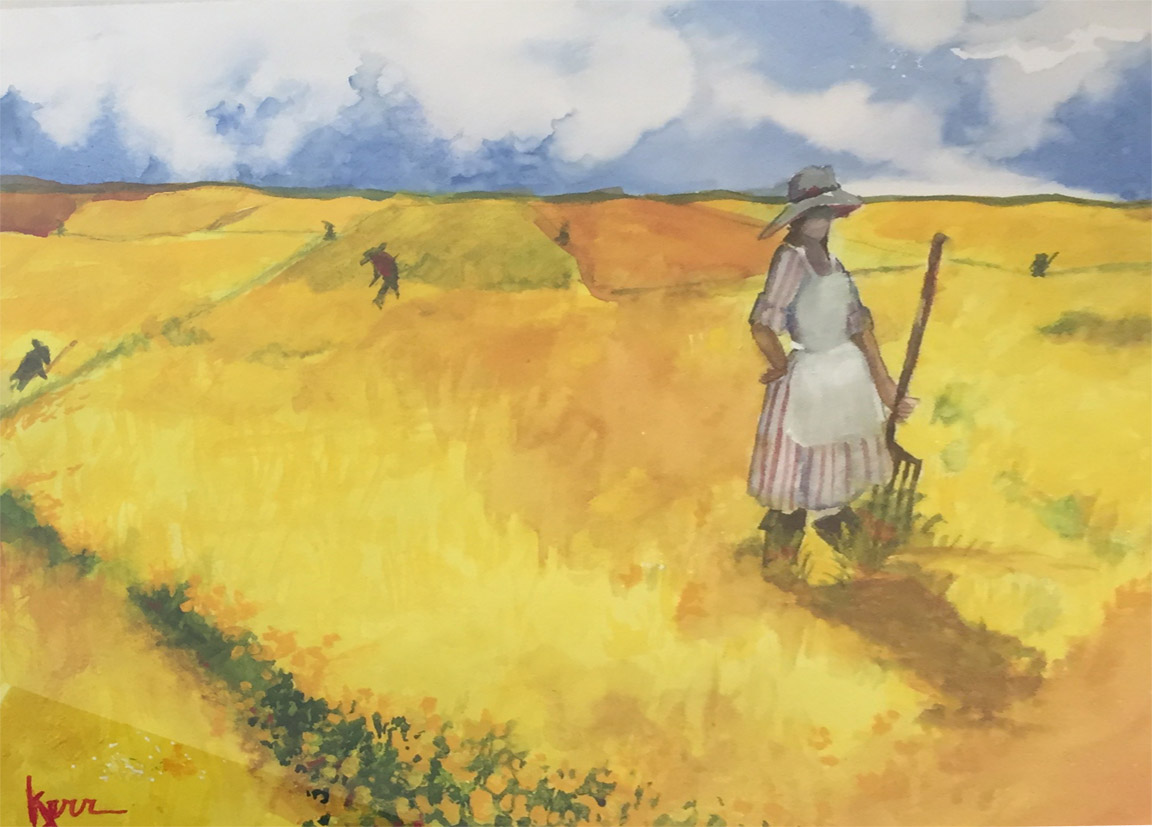 Mustard Field   Lynn Kerr