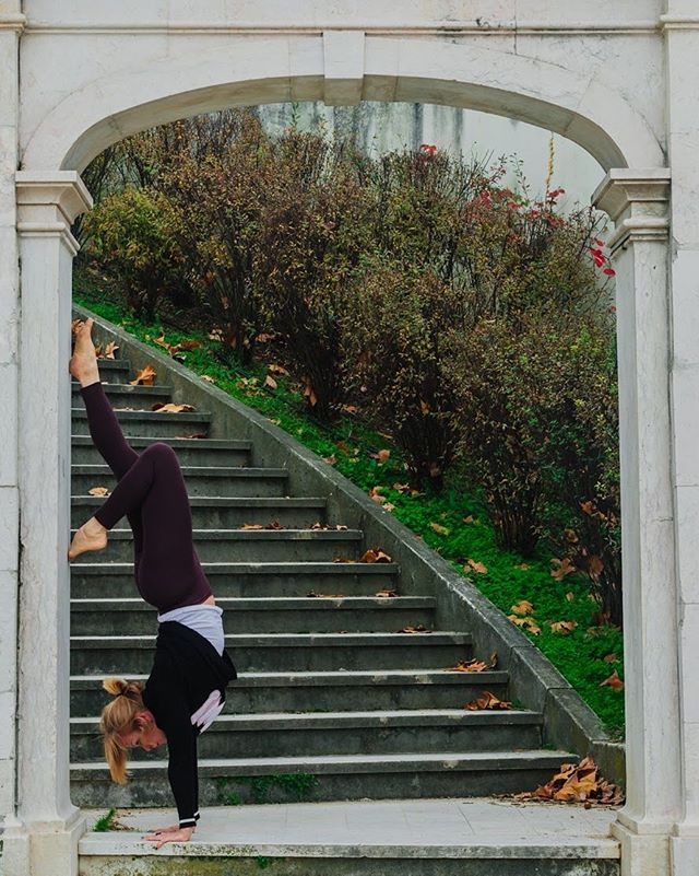 Make connections; let rip; and dance where you can. - Annie Dillard . . . . . . . . . . #instayogi#iyengaryoga#youtuber#yogisofinstagram#paris#parisyoga#yogachallenge#yogapose#instagramer#mp.teachers# malaika-padma#yogatherapy#yogaover50#strongisthenewsexy#lululemon#malaika_padma#mp.teachers#yogisofinsta#yogaphotography#myyogajourney#yogasearcher#guerillayoga#handstandsagainstthewall#adhomukhavrskasana#yogalisbon