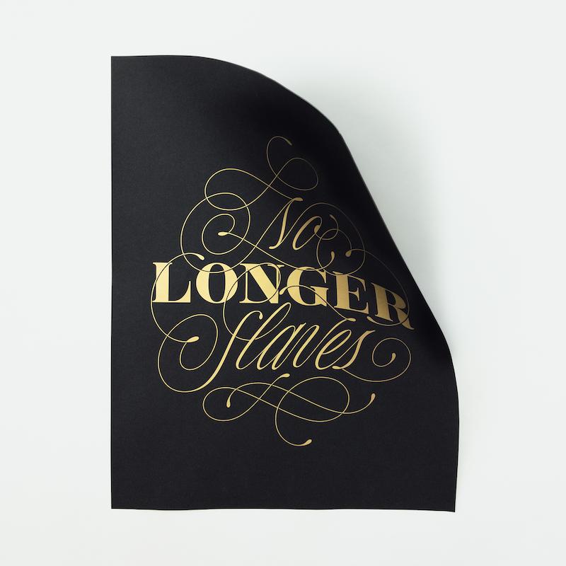 No Longer Slaves   Silk screen printing (65x50)