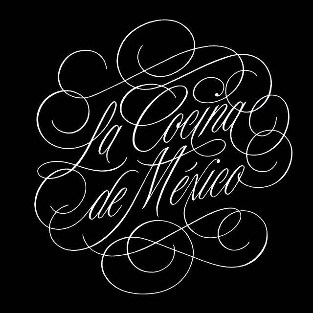 """La Cocina de México"" diseño de lettering para @la_tequila, muy pronto compartiré las fotos del proceso y el resultado final . . . . . #branding #brandingdesign #copperplatecalligraphy #restaurantdesign #restaurantbranding #branddesign #lettering #identitydesign #calligraphy #handlettering #typography #logodesigns #mexicanrestaurant #designspiration #visualidentity #designfeed #logoinspirations #dribbble #worldbranddesign #letteringco #ligaturecollective #typematters #tyxca #strenghtinletters #latequila #lacocinademexico #diseñomexicano #mexicandesign"
