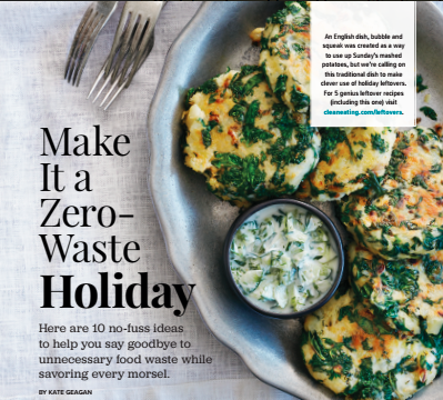 Make it a Zero-Waste Holiday, Clean Eating Magazine