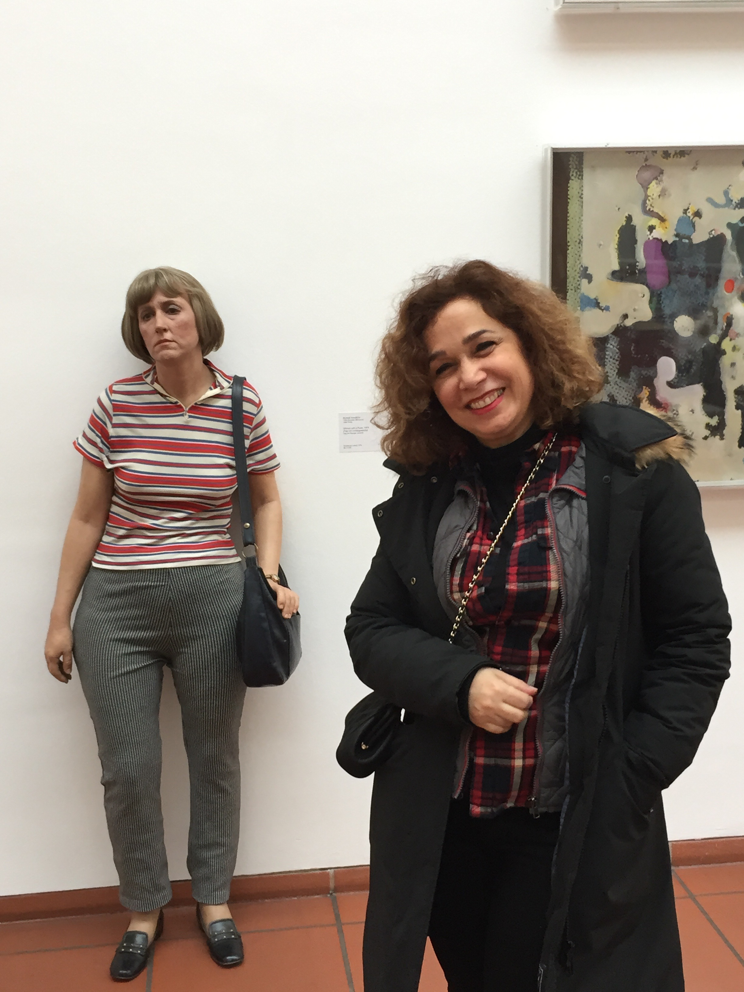 Me standing next to a Duane Hanson sculpture, could you tell she wasn't real?